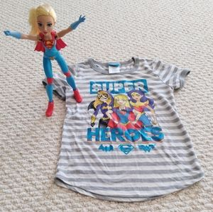 Super Heroes Shirt & Superwoman Doll